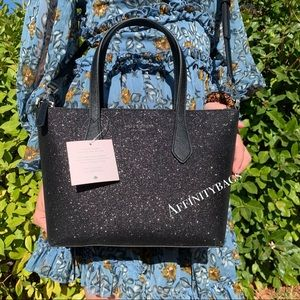 Kate spade Small Bag Joeley Satchel black glitter